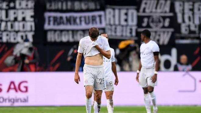 Enttäuschung pur beim FC Bayern nach der Pleite in Frankfurt