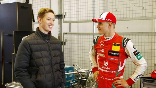 David Schumacher (l.) nahm am virtuellen GP von Monaco teil