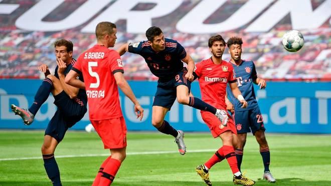 Im letzten Ligaspiel traf Robert Lewandowski gegen Bayer - ob es ihm auch im Pokalfinale gelingt?