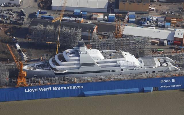Die Solaris wurde in der Lloyd Werft von Bremerhaven gebaut
