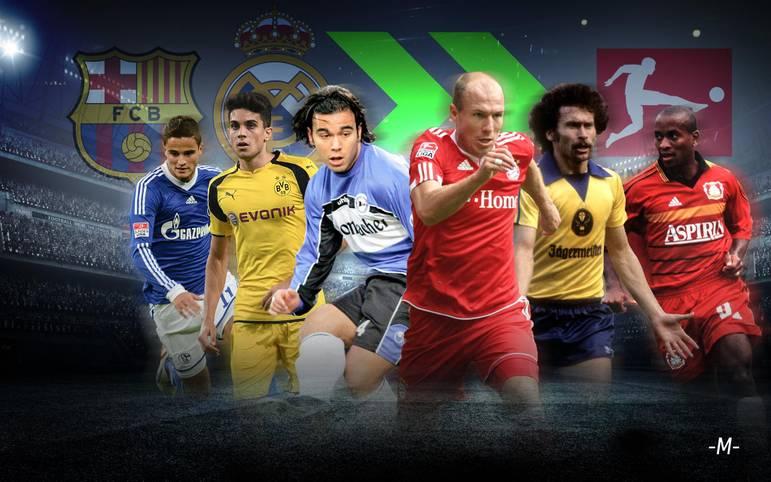 Borussia Dortmund verpflichtet mit Mateu Morey ein Talent des FC Barcelona. Der BVB ist nicht der einzige Bundesligist, der sich bei Spaniens Edelklubs Barca oder Real Madrid bedient. SPORT1 zeigt klangvolle und weniger im Gedächtnis gebliebene Namen