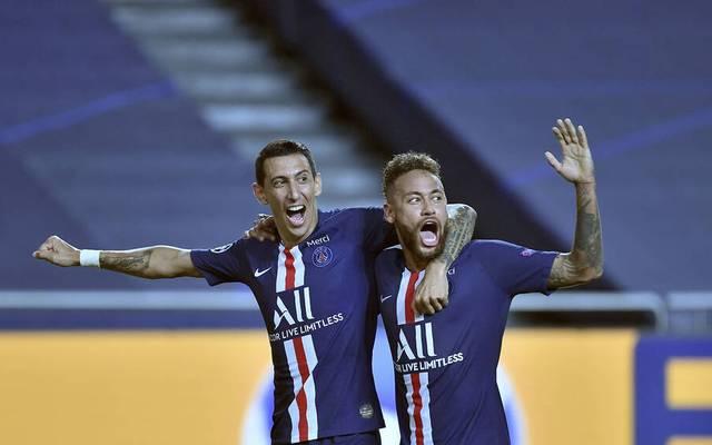 Angel di Maria (l.) hat seinen Vertrag bei PSG verlängert