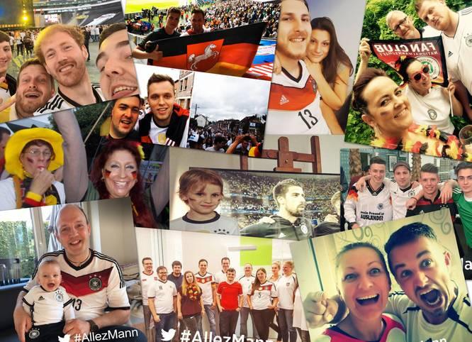 Unter #AllezMann können die Fans der deutschen Nationalmannschaft via Facebook, Twitter und Instagram das DFB-Team unterstützen. SPORT1 zeigt die besten Bilder