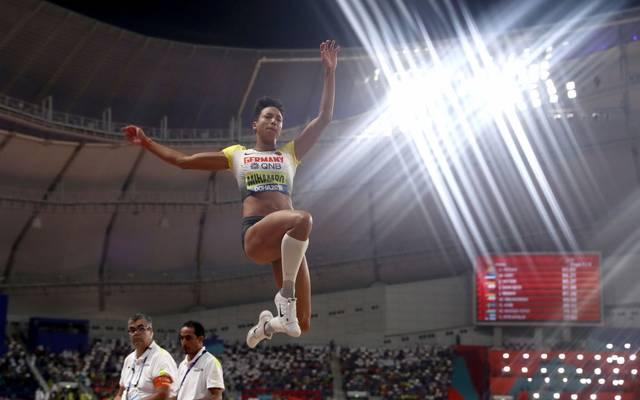 Mihambo wurde 2019 in Doha Weltmeisterin im Weitsprung