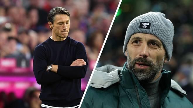 Marco Rose (r.) spricht über Niko Kovac und dessen Entlassung beim FC Bayern