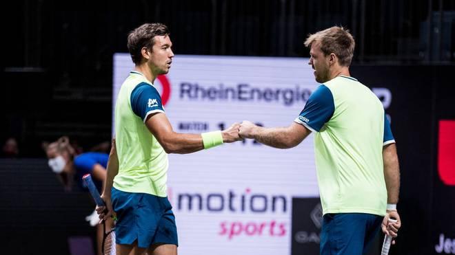 Kevin Krawietz und Andreas Mies stehen im Finale von Köln