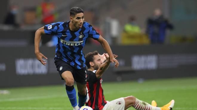 Achraf Hakimi unterschrieb im Sommer bei Inter Mailand