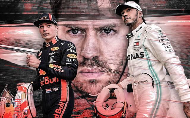 Sebastian Vettel (M.) dürfte es zu Beginn seiner letzten Ferrari-Saison schwer haben