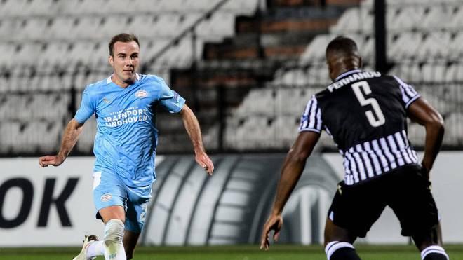 Mario Götze konnte die Pleite gegen PAOK Thessaloniki nicht verhindern
