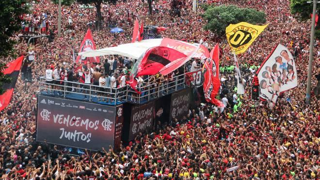 Nach dem Triumph aus Copa Libertadores und Meisterschaft kommt Flamengo aus dem Feiern nicht mehr raus