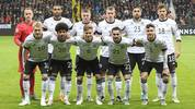 (Back row, From L), Germany's goalkeeper Marc-Andre Ter Stegen, Germany's defender Jonathan Tah, Germany's midfielder Toni Kroos, Germany's defender Lukas Klostermann, Germany's midfielder Emre Can and Germany's midfielder Leon Goretzka (Front row, From L) Germany's forward Julian Brandt, Germany's forward Serge Gnabry, Germany's midfielder Joshua Kimmich, Germany's midfielder Ilkay Gundogan and Germany's defender Jonas Hector pose for the team photo prior to the UEFA Euro 2020 Group C qualification football match Germany v Northern Ireland in Frankfurt am Main, western Germany  on November 19, 2019. (Photo by Daniel ROLAND / AFP) (Photo by DANIEL ROLAND/AFP via Getty Images)