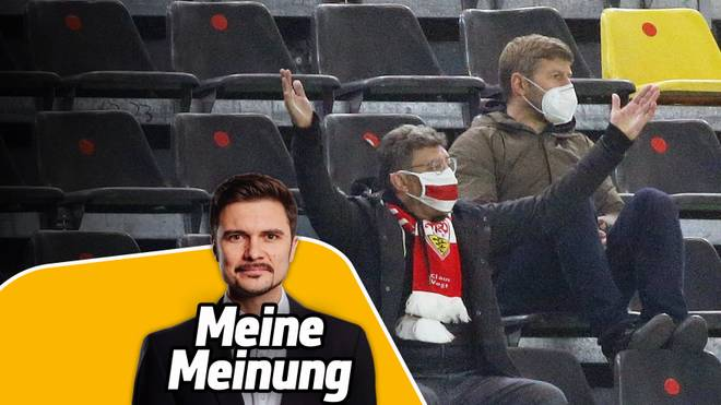 Beim VfB Stuttgart treten Thomas Hitzlsperger (r.) und Claus Vogt eine Schlammschlacht los