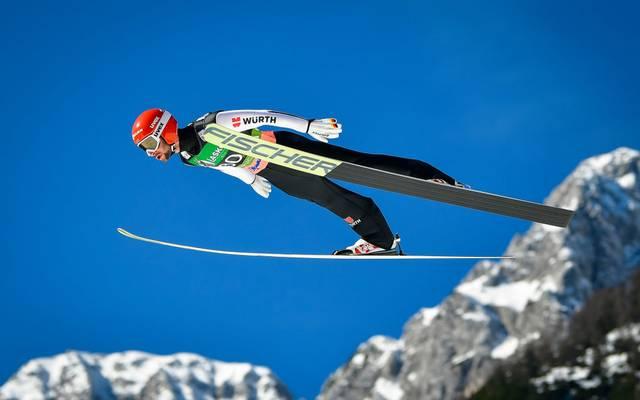 Markus Eisenbichler sprang in Klingenthal in der Qualifikation auf Platz zehn
