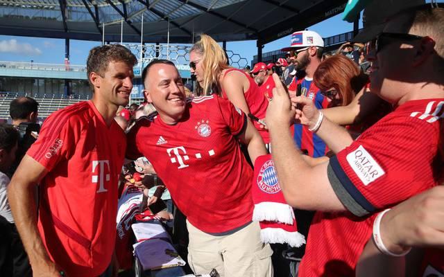 Thomas Müller (l.) auf der USA-Tour des FC Bayern 2019