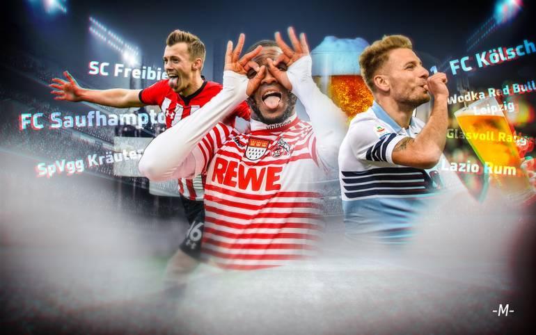 Am Wochenende schafftes es #Trinkerclubs in die deutschen Trends auf Twitter. SPORT1 präsentiert die 15  kreativsten Name für bekannte Fußball-Teams