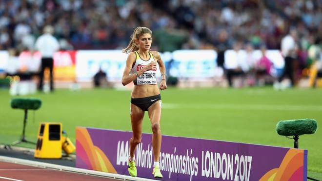 LONDON, ENGLAND - AUGUST 05:  Konstanze Klosterhalfen of Germany in action during the Women's 1500 metres semi final during day two of the 16th IAAF World Athletics Championships London 2017 at The London Stadium on August 5, 2017 in London, United Kingdom.  (Photo by Alexander Hassenstein/Getty Images for IAAF)