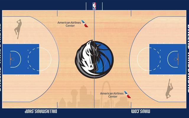 Der Court der Dallas Mavericks