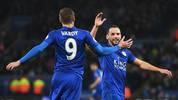 Jamie Vardy (l.) und Danny Drinkwater könnten das Leicester-Trikot gegen ein Chelsea-Jersey tauschen