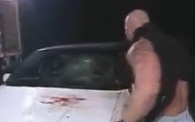Bill Goldberg hinterließ eine Blutlache auf der Limousine