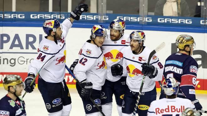 Der EHC Red Bull München siegt deutlichen gegen die Eisbären Berlin