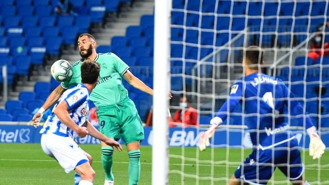 Diese Szene ging dem 2:0-Treffer von Karim Benzema voraus