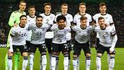 MOENCHENGLADBACH, GERMANY - NOVEMBER 16: Players of Germany pose for a team photo prior to the UEFA Euro 2020 Group C Qualifier match between Germany and Belarus on November 16, 2019 in Moenchengladbach, Germany. (Photo by Dean Mouhtaropoulos/Bongarts/Getty Images)