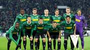 MOENCHENGLADBACH, GERMANY - NOVEMBER 07: Borussia players line up during the UEFA Europa League group J match between Borussia Moenchengladbach and AS Roma at Borussia-Park on November 07, 2019 in Moenchengladbach, Germany. (Photo by Lars Baron/Bongarts/Getty Images)