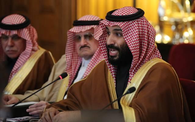 Mohammed bin Salman (r.) will wohl eine Sport-Stadt bauen