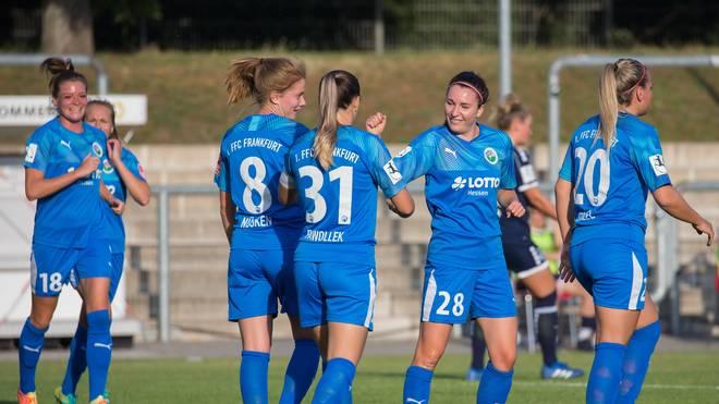Die Frauen des 1. FFC Frankfurt liegen aktuell auf dem vierten Tabellenplatz