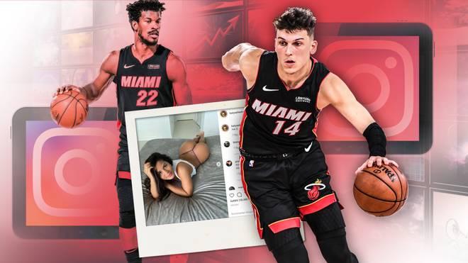 Tyler Herro (r.) steht mit den Miami Heat nur noch einen Sieg vor den NBA Finals