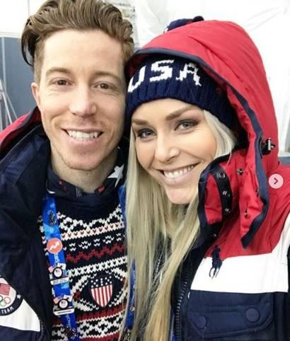Zwei absolute Wintersport-Ikonen auf einem Bild. Snowboard-Ass Shaun White und Ski-Queen Lindsey Vonn gemeinsam bei der Eröffnungsfeier der Olympischen Spiele. Die Social Highlights der Olympischen Spiele