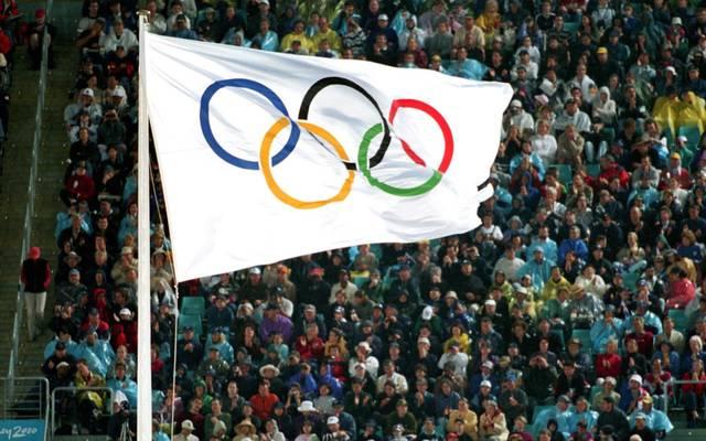 Die Olympischen Ringe sind das Wahrzeichen der Olympischen Spiele