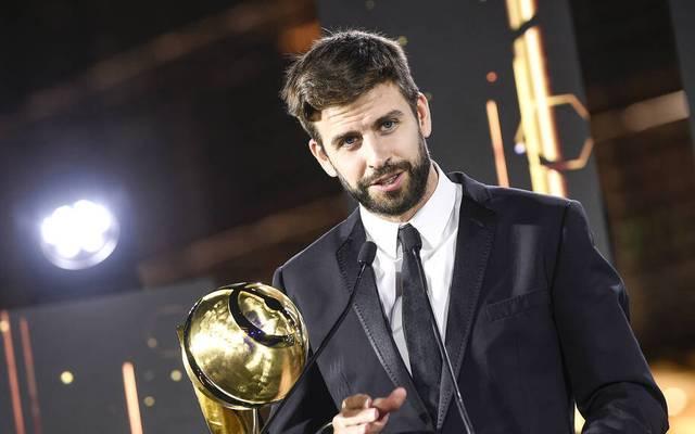 Gerard Piqué wird bei den Globe Soccer Awards ausgezeichnet