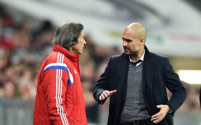 Pep Guardiola im Gespräch mit Hans-Wilhelm Mueller-Wohlfahrt