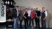"""Das Box-Team von SPORT1: Axel Schulz, Kai Ebel, Regina Halmich, Graciano """"Rocky"""" Rocchigiani, Sarah Valentina, Kontra K, Tobias Drews und Kai Ebel (v.l.n.r.)."""