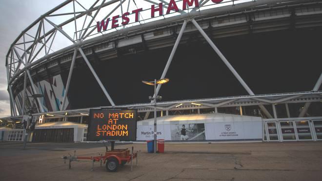 Auch im London Stadium (West Ham United) wird aktuell nicht gespielt