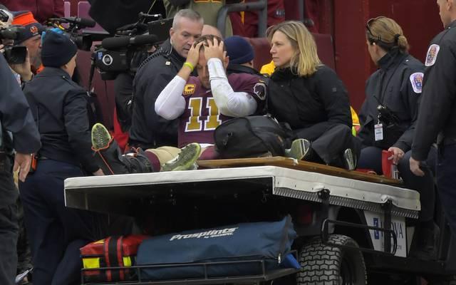 Alex Smith nach seinem Beinbruch 2018 im Spiel der Redskins gegen die Texans