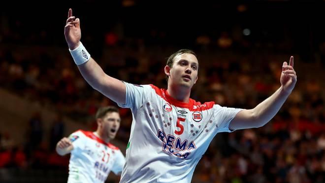 Sander Sagosen (m.) hat so viele Tore erzielt wie noch nie ein Spieler bei einer EM