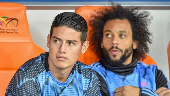 James Rodriguez (l.) spielt bei Real Madrid keine Rolle mehr