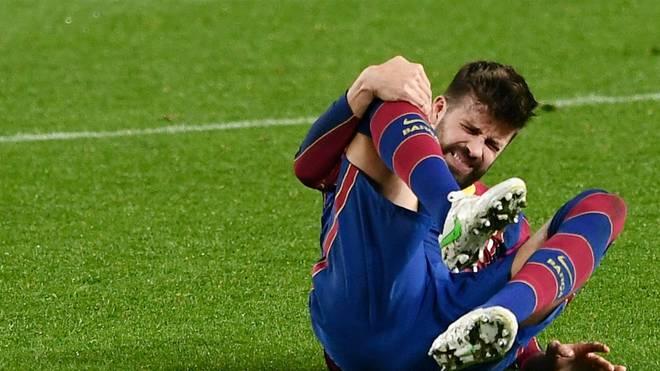 Gerard Pique verletzte sich im Pokalspiel gegen Sevilla