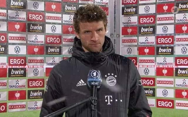 Thomas Müller vom FC Bayern war über manche Reporterfrage wenig amüsiert