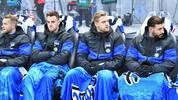 Arne Maier (2.v.r.) ist mit seiner Rolle bei Hertha unzufrieden