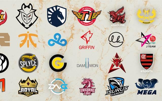 Die 24 Teams, die um den Weltmeistertitel in League of Legends kämpfen werden.