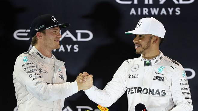 Nico Rosberg und Lewis Hamilton im Jahr 2016