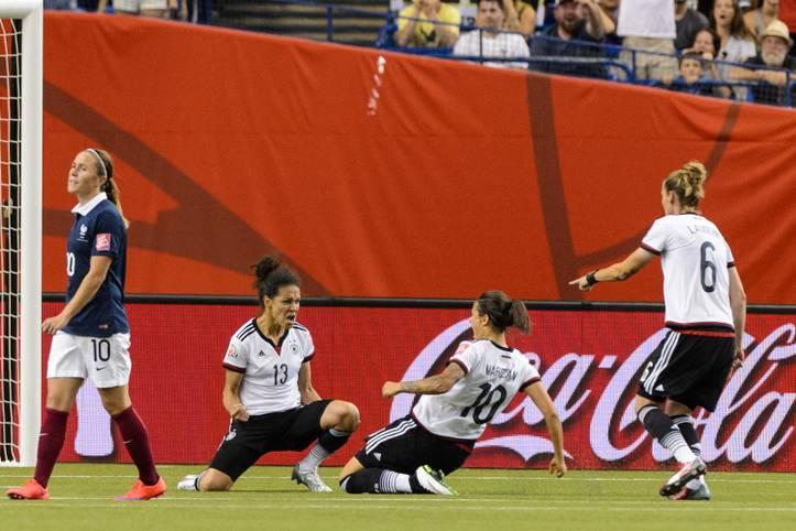 Wer wird in die Fußstapfen von SPORT1-Expertin Celia Sasic (l.) treten, die bei der WM 2015 den Goldenen Schuh gewann? SPORT1 zeigt die erfolgreichsten Torschützinnen der Frauen-WM 2019 in Frankreich
