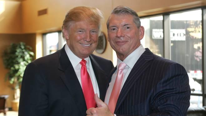 Donald Trump (l.) und Vince McMahon sind langjährige Geschäftsfreunde