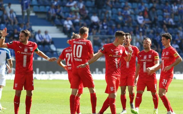 Der Hallesche FC gewinnt gegen den 1. FC Magdeburg