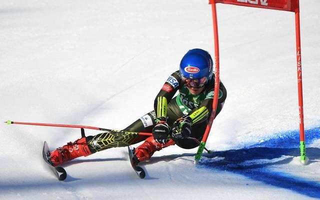 Mikaela Shiffrin liegt beim Riesenslalom in Lienz auf Siegkurs