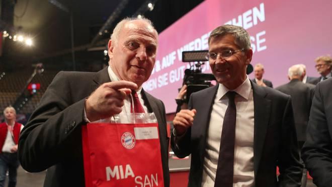 Herbert Hainer (r.) ist der Nachfolger von Uli Hoeneß als Präsident des FC Bayern