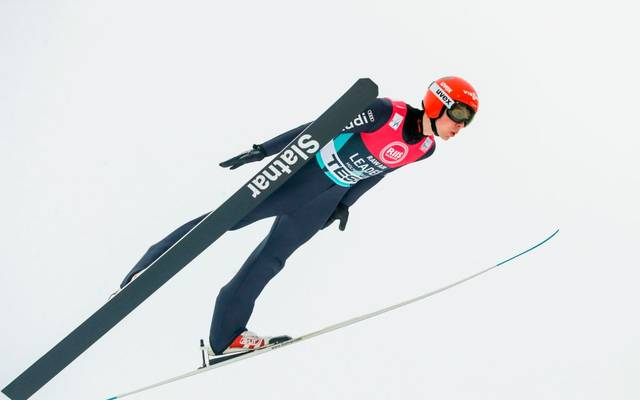 Constantin Schmid from Germany competes in the Men's RAW AIR team ski jumping competition at the FIS World Cup Nordic on March 7, 2020 in Holmenkollen, Norway. (Photo by Terje Bendiksby / NTB Scanpix / AFP) / Norway OUT (Photo by TERJE BENDIKSBY/NTB Scanpix/AFP via Getty Images)